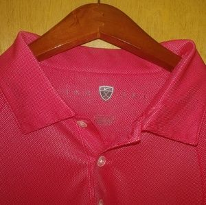 Red Nike Polo Golf shirt size L